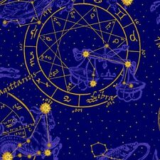 Celestial By In The Beginning Fabrics  -  Blue Star Chart  #4JYC-2M