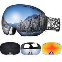 Ski Goggles Winter Snow Sports Snowboard Anti-fog UV Protection Dual Lens Unisex