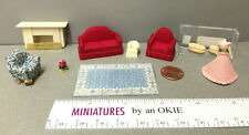 Miniature Sofa, Chairs Fireplace, Planters, Dress Model, Rug 1:48 Scale (56