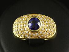 Sehr schöner Brillant Saphir Band Ring ca. 1,74ct   RW 58   10,1g 750/- Gelbgold