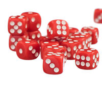 50 x 12mm Opaque Six Sided Spot Dice Games D6 D&D RPG Red