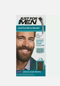 JUST FOR MEN Brush-In Color Gel, Medium-Dark Brown M-40, 1 ea