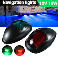 Yacht Boat Marine LED Navigation Light Port & Starboard Red & Green 12V Black
