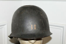 Rare WW2 U.S. Army Captain's Marked M1 Helmet w/Chinstraps & 1945 dated Liner