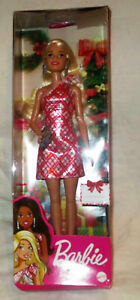 Barbie 2020 Holiday Doll Red and White Dress NEW