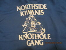 Rare 1970s Evansville IN Triplets Knothole Gang T-Shirt Youth L Tigers Farm Team