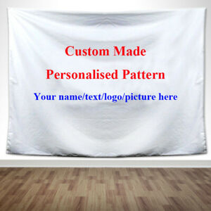 Unique Gift Personalized Custom Made Wall Art Hanging Tapestry Home Cafe Decor