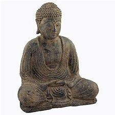 Stone Meditating Buddha Garden Statue Asian Art Outdoor Patio Decor USA Seller