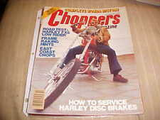 CHOPPERS Magazine oct 1977,harley,triumph,honda choppers,springers,bobber