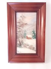 Original Framed Oil Painting by Noel Winter Mountain Scene with Trees