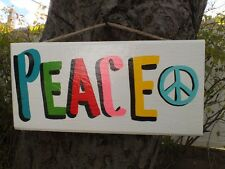 COUNTRY WOOD RUSTIC PRIMITIVE KIDS PEACE SHABBY CHIC HAND MADE SIGNS PLAQUES