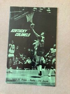 ABA Kentucky Colonels 1969-70 Press Guide with Statistics Sheet and Other Notes