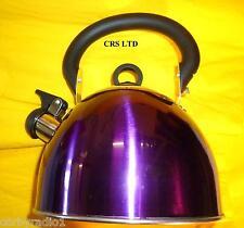 Sifflet Bouilloire En Acier Inoxydable 2.5 L violet métallisé home Camping Caravane Stove