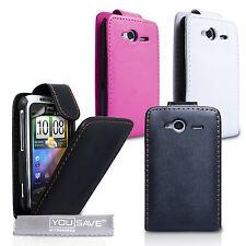 Htc Wildfire S – Nuevo Diseñador Cuero Pu Flip móvil cubierta – cajas del teléfono y Skins