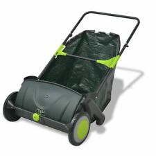 More details for vidaxl outdoor garden power lawn sweeper leaf grass collector remover 103 l
