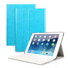DEUTSCHE QWERTZ Tastatur iPad 2 3 4 Schutzhülle Bluetooth Keyboard Cover Blau
