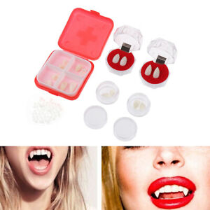 2 Stück Vampir Zähne Reißzähne Spielzeug Sicheres Harz Halloween Zahnersatz ZBOD