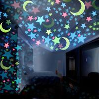50pcs 3D Estrelas Brilham No Escuro Luminoso Fluorescente Wall Stickers Quarto Crianças