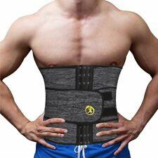 Neoprene Men Waist Trainer Support Sauna Suit Weight Modeling Body Shaper Belt