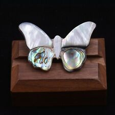 Butterfly Brooch Pin with Natural Abalone Shell