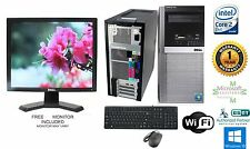 Dell 960 Tower Pc Computer 3.00GHz 4GB Ram 250GB HD Windows 10 Pro 64 Monitor