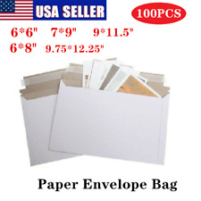 Pack of 100 Rigid Shipping Mailers Paper Envelopes Bags W/Self-adhesive Strip US