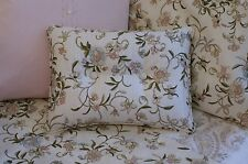 NEW Custom Ralph Lauren Romantic Traveler Floral Accent Pillow 2 Button