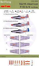 Bestfong Decals 1/144 NORTH AMERICAN P-51D/K MUSTANG Red China Air Force