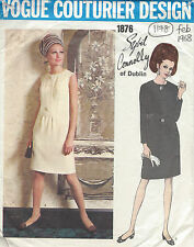 """1968 Vintage VOGUE Sewing Pattern DRESS B36"""" (1178) By 'Sybil Connolly'"""