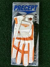 2pcs Precept Golf Performance Series All Weather Glove Ladie Rh Large Org/Wht