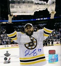 Rich Peverley  Boston Bruins raising the Stanley Cup over head signed 16x20