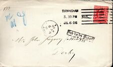 1906 Sg 219 1d scarlet on cover with 'Not To Be Found 242' Explanatory Mark