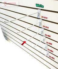 "8"" Slatwall Metal Hooks (24-008WH) - 100 Piece - White (NEW)"
