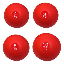 SET OF 4 RED FXR SPORTS NO BOUNCE SLAM BALLS BALL FITNESS GYM (4, 6, 8 & 10KG)