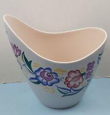 Vintage Poole Hand Painted Floral Freeform Vase
