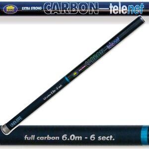 6m Lineaffe Full Carbon 19ft Landing Tele Net Handle 6 Section Carp Fishing
