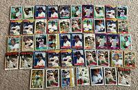 Jim Rice 47 baseball card lot HOF Boston Red Sox Topps Fleer Donruss Score
