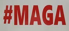 TRUMP #MAGA RED  DECAL STICKER MAKE AMERICA GREAT AGAIN