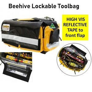 Beehive Lockable Zippable Vinyl Tool Bag Work Equipment Gear Storage Shoulder