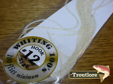 #12 WHITE WHITING 100's PACK DRY FLY SADDLE HACKLE FEATHERS WHITING FARMS NEW