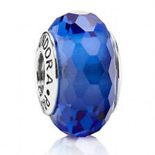 NEW! AUTHENTIC PANDORA FASCINATING BLUE FACETED MURANO GLASS  - 9011