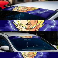 """60"""" Vegeta Super Saiyan Majin Sun Strip Car Windshield Vinyl Banner Decal"""
