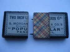 C1900 VINTAGE S.MORDAN  &Cos TWO INCH 6D LEADS BOX