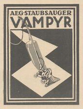 Y6697 AEG Staubsauger VAMPYR -  Pubblicità d'epoca - 1929 Old advertising