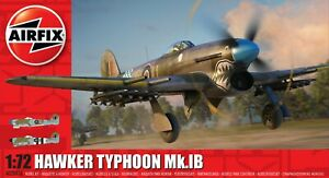 Brand New Airfix 1:72nd Scale Hawker Typhoon IB Model Kit.
