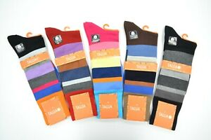 Tallia Happy Socks Striped Design Dress Casual Cotton Blend