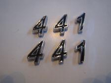 441 Hood Scoop Fender Trunk Engine Id Emblems Set Black