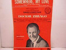 """Somewhere, My Love Doctor Zhivago Sheet Music, Piano, Guitar, Vocal, 1966"