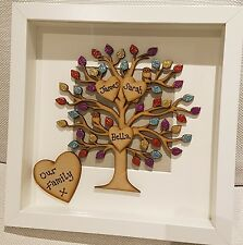 Personalised Family Tree picture box frame gift Mothers Day/ Birthday - lovely!
