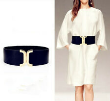 Gold X Lady Wide Fashion Belt Women Black Cinch Waist Belt Elastic Stretch Gifts